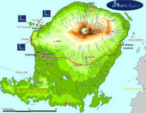 Map of Dream Divers Lombok Dive center locations